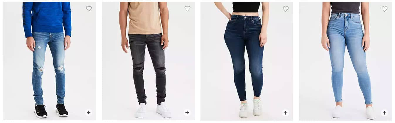 American Eagle: All Clearance Jeans .99 Per Pair