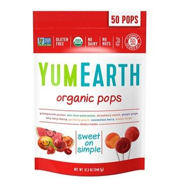 YumEarth Organic Lollipops 50 Count Only $5.32