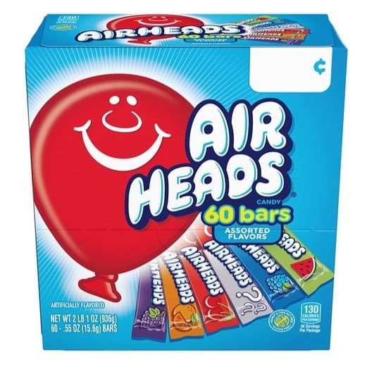 Airheads Bars Chewy Fruit Candy 60 Count Variety Pack Only $5.40