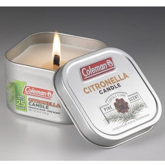 Coleman Pine Scented Citronella Candle with Wooden Crackle Wick Only $2.94