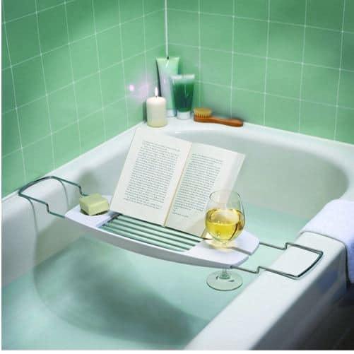 AmazonBasics Bathtub Caddy with Extendable Arms Only $4.94