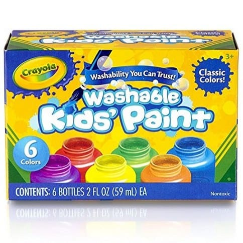 Crayola Washable Kid's Paint 6-Count Only $3