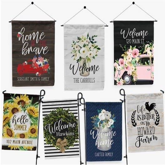 Personalized Porch & Garden Flags Only $10.99 **36 Designs**