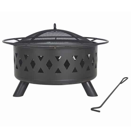 30 Inch Heavy Duty Wood Burning Fire Pit with Cooking Grate $69.99 **Today Only**