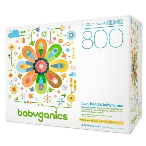 Babyganics Fragrance-Free Face Hand and Baby Wipes 800 Count Only $11.02