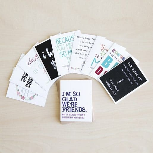 Set of 10 Sarcastic Greeting Cards $12.99 + Free Shipping!