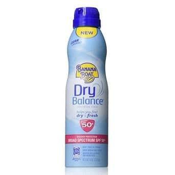 Banana Boat Dry Balance SPF 50+ Sunscreen Spray Only $3.99