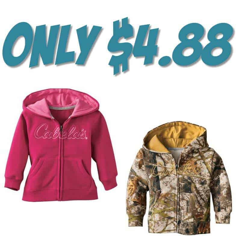 Cabela's Infants'/Toddlers' Hooded Sweatshirt Jacket ONLY $4.88 (Was $30)
