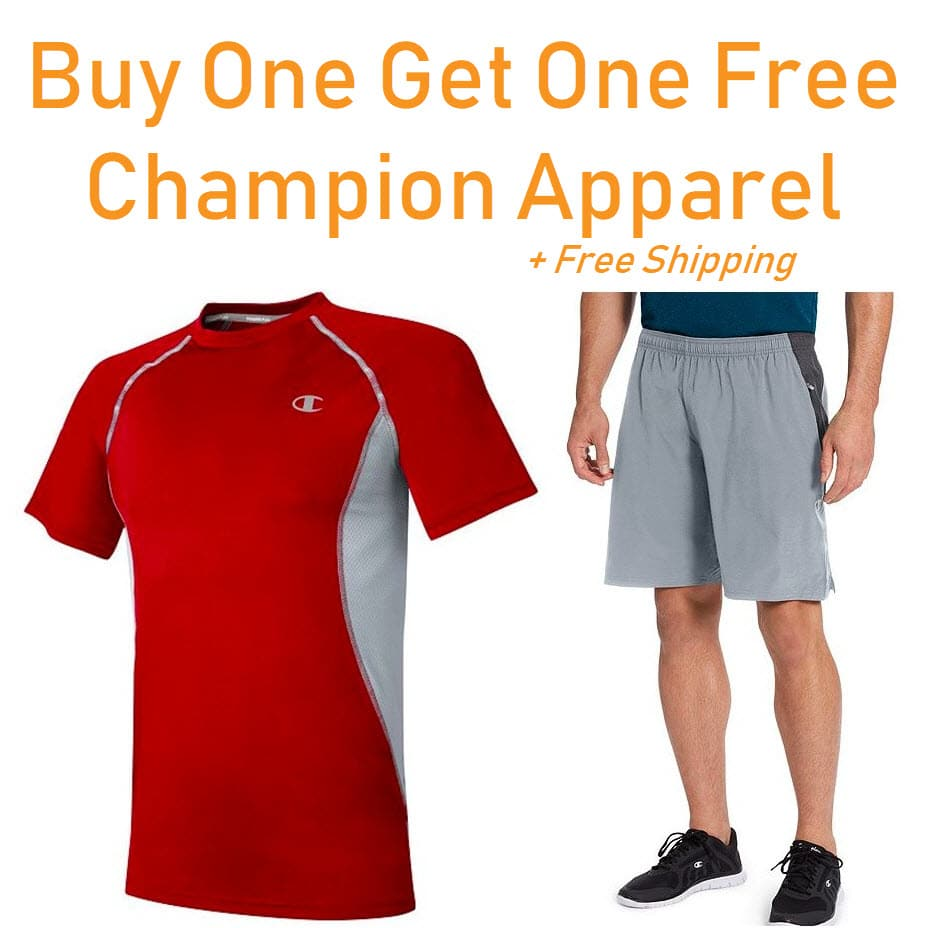 Champion Apparel Buy One Get One Free + Free Shipping on ANY Order