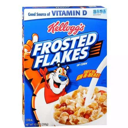 2-Pack Kelloggs Frosted Flakes Cereal Only $3.00 w/ Free Pick Up at Walgreen's