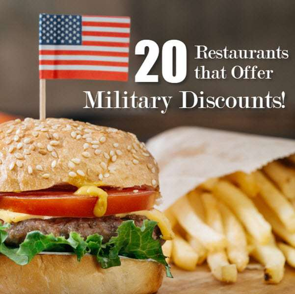 20 Restaurants That Offer Military Discounts