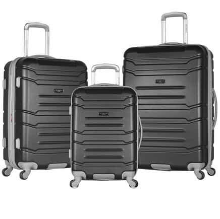 Olympia Denmark 3 Piece Luggage Set, Black Only $129 (Was $680.00)