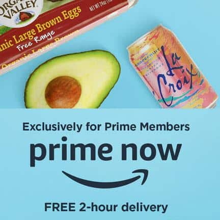 Save $10 Off Your First Amazon Prime Now Purchase