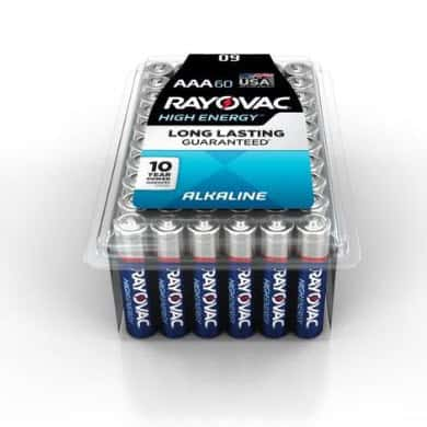 10 Pack of Rayovac AA or AAA Alkaline Batteries ONLY $10.97
