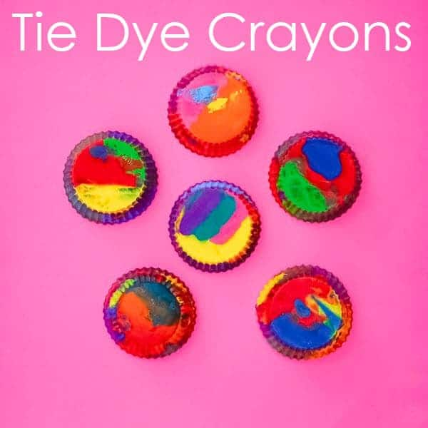 Recycle Old Crayons Into Tie Dye Crayons