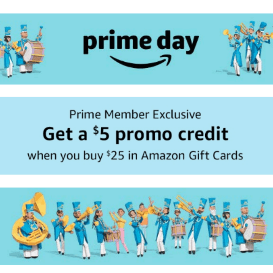 Save $5 off any $25 Gift Card Purchase #PrimeDay