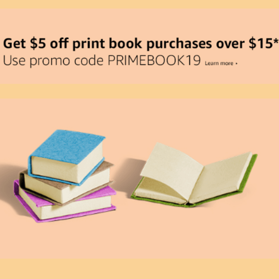 Save $5 off Any $15 Print Book Purchase @ Amazon #PrimeDay