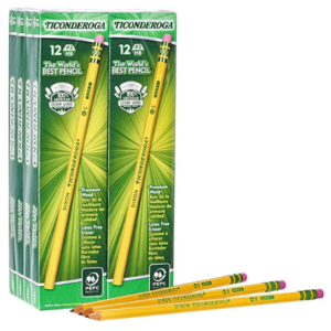 Dixon Ticonderoga Wood-Cased #2 HB Pencils, Box of 96 Only  (Was )