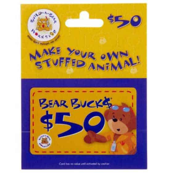 Build-A-Bear Gift Card $50 Only $39.50