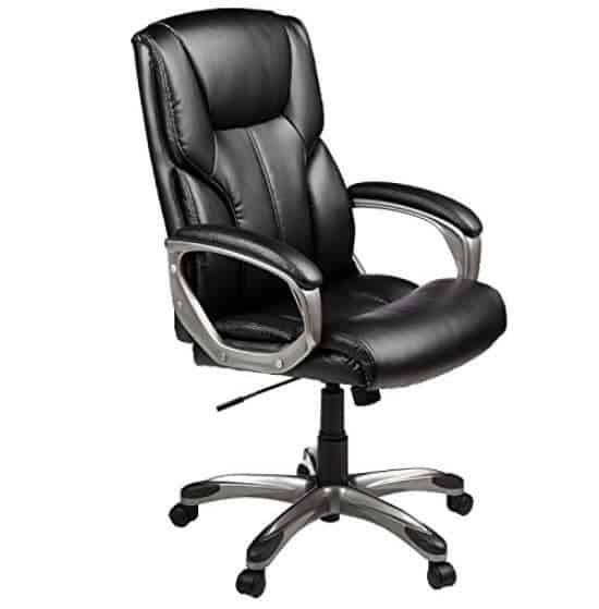 Amazon Prime Deal: AmazonBasics High-Back Executive Chair - Black Only $79.99 (Was $109.99)