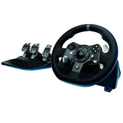 Logitech Driving Force Racing Wheel with Responsive Pedals for Xbox One $256 (Was $400)