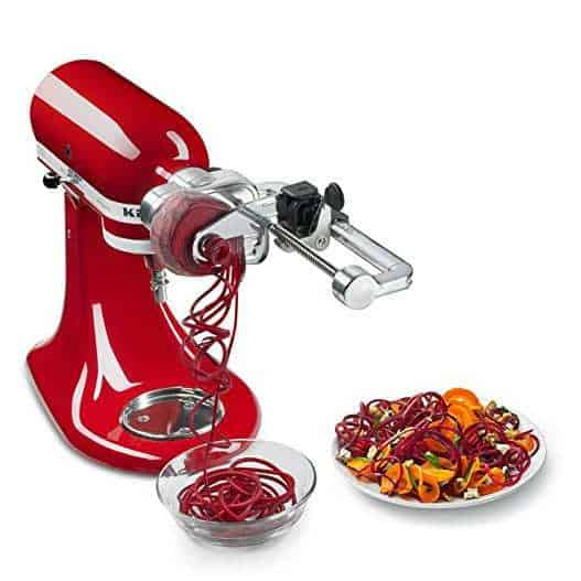 KitchenAid Spiralizer Plus Attachment with Peel, Core and Slice, Silver Only $79.96