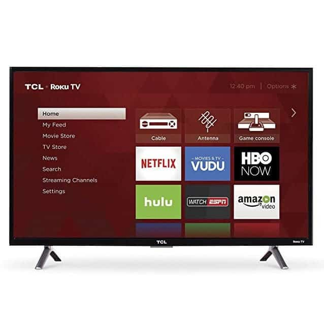 TCL 32S305 32-Inch 720p Roku Smart LED TV (2017 Model) Only $129.99 (Was $199.99)