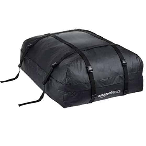 AmazonBasics Rooftop Cargo Carrier Bag, Black, 15 cu. ft. Only $30 (Was $54.99)