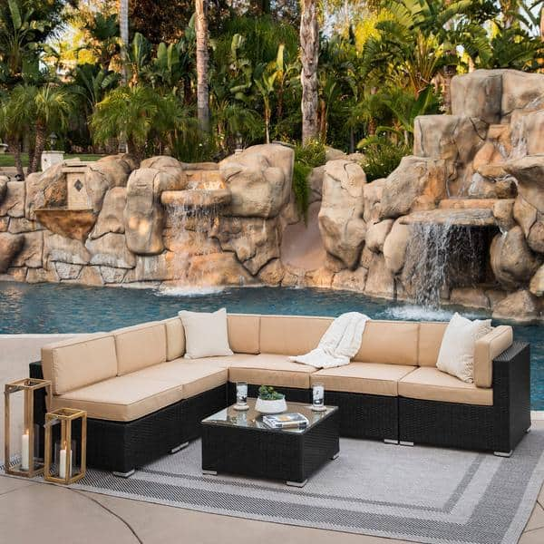 Modular 7-Piece Wicker Sectional Outdoor Sofa Set $559 Shipped (Was $1500)