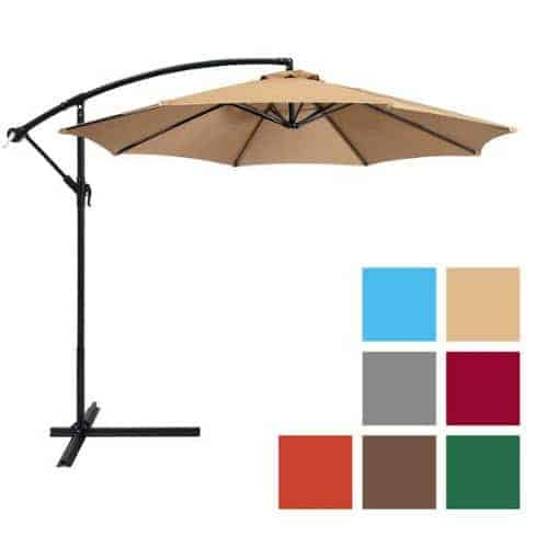 10ft Offset Hanging Patio Umbrella ONLY $54 Shipped (Was $179)
