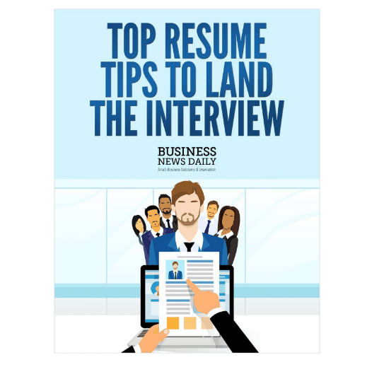 """FREE """"Top Resume Tips to Land the Interview"""" eBook"""