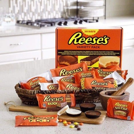 REESE'S Chocolate Peanut Butter Candy Variety Pack 30 Count $16.79 #PrimeDay