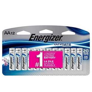 Energizer Ultimate Lithium AA Batteries 12 Count Only $10.34