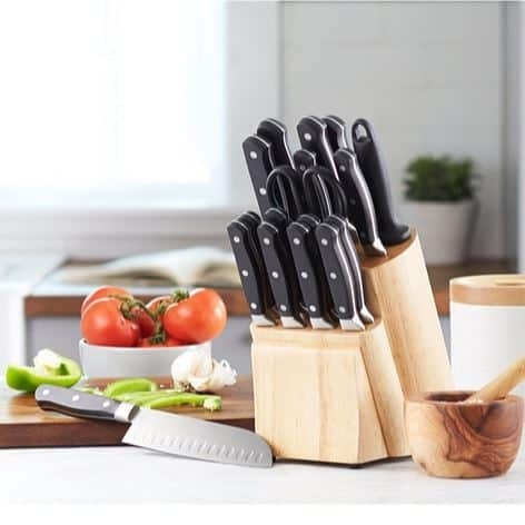 AmazonBasics Premium 18-Piece Knife Block Set Only $37.99 (Was $64.99)