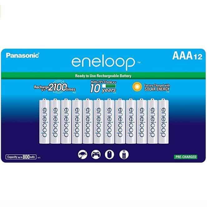 Panasonic eneloop AAA Rechargeable Batteries 12-Count Only $17.45