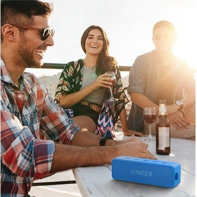 Anker SoundCore 2 Water Resistance Wireless Bluetooth Speaker with Built-in Mic Only $28.99