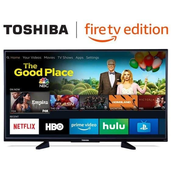 Toshiba 50-inch 4K Ultra HD Smart LED TV with HDR - Fire TV Edition $299.99