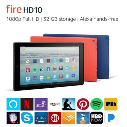 Fire HD 10 Tablet with Alexa Hands-Free 32 GB with Special Offers $99.99 WYB 2