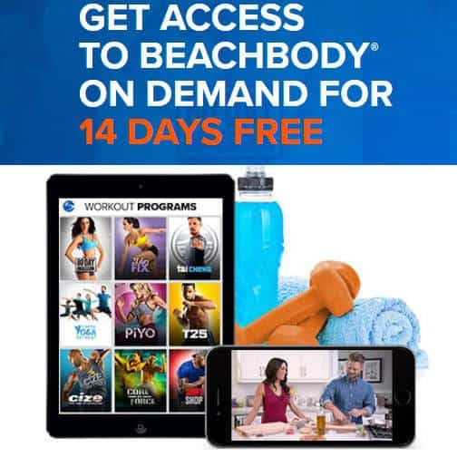 FREE 14 Day Trial of BeachBody on Demand - Get FREE P90X, 21 Day Fix, PiYo, and More!