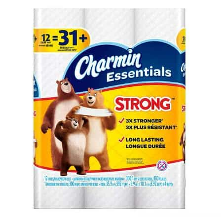 Walgreens.com: 12 Pack of Charmin Essentials Strong Toilet Paper Only $3.99 (Was $6.99)