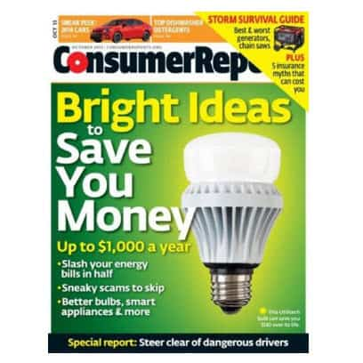 One Year Subscription to Consumer Reports $18.99