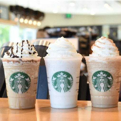 50% off Starbucks Frappuchinos Starts Today