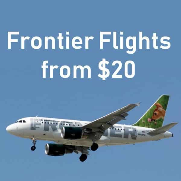 Frontier Airlines – One Way Fares ONLY $20 **HOT**