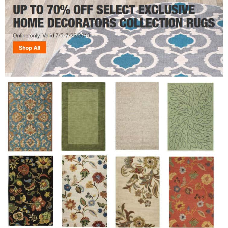 Home Depot: 70% off Area Rugs - Small Rugs $5.70 - 8x11 from $60 **SUPER HOT**