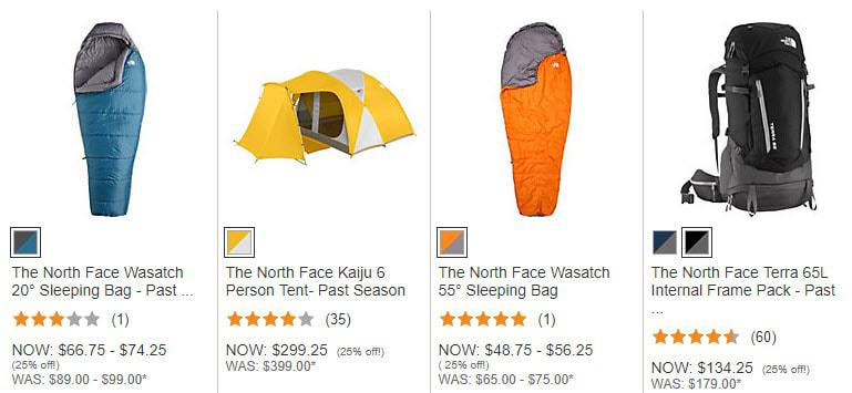 Dick's Sporting Goods: Extra 25% Off The North Face Camping Gear **RARE**