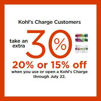 Kohl's Card Holders 30% Off Code + $10 off $50 Code + Free Shipping