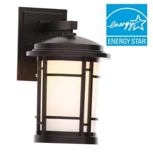 Home Depot: 7 in. Burnished Bronze Outdoor LED Wall Mount Sconce $11.40 (Was $45)