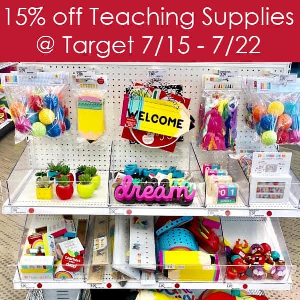 Teachers Get 15% Discount on School Supplies July 15th - July 21st