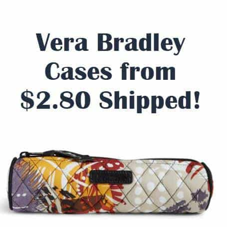 Vera Bradley Outlet - Small Cosmetic Cases ONLY $2.80 Shipped (Was $18)