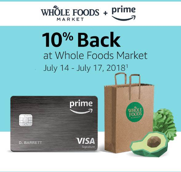 Prime Members Get 10% Back at Whole Foods July 14-17